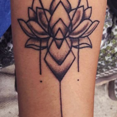 Forearm Lotus Tattoo