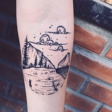 Forearm Nature Tattoo