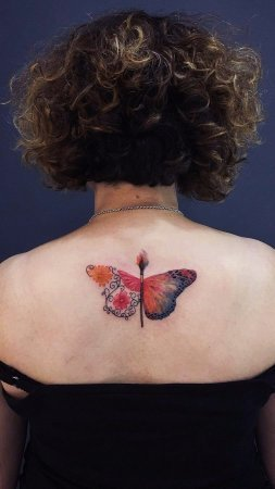 Surrealistic Butterfly Tattoo