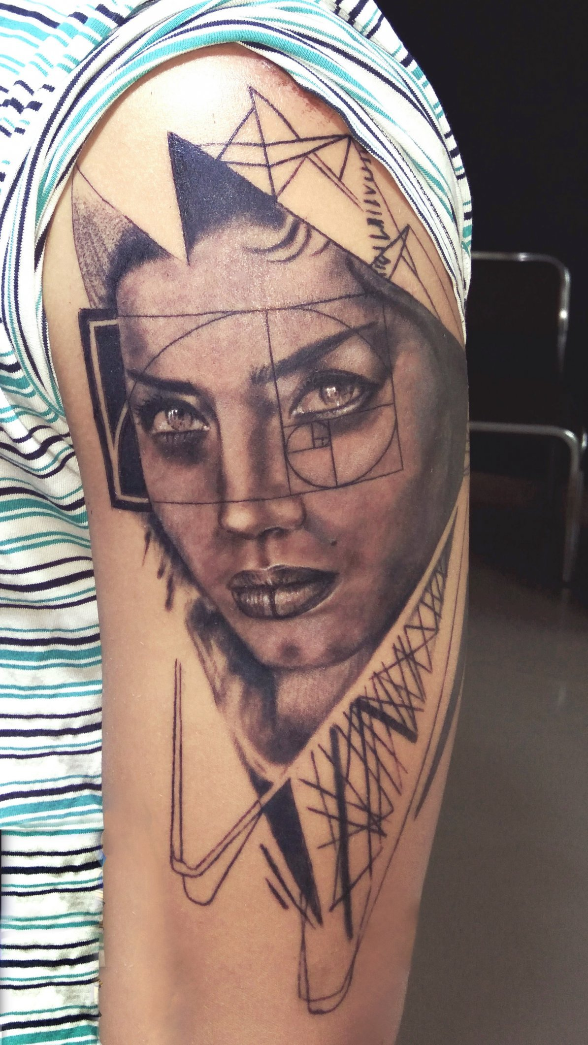 Abstract Girl Tattoo