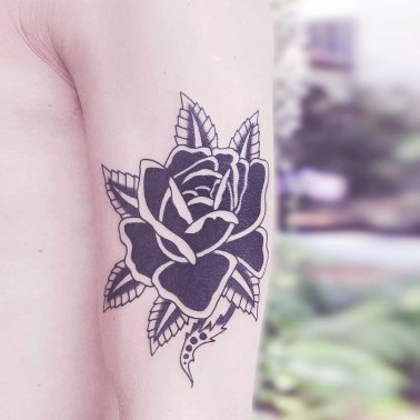 Surrealistic Rose Tattoo