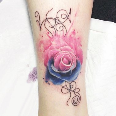 Colour Rose Tattoo