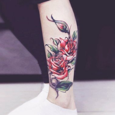Floral Cluster Tattoo