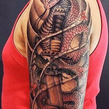 Samurai Shoulder Sleeve Tattoo