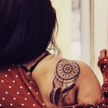 Dreamcatcher Shoulder Tattoo