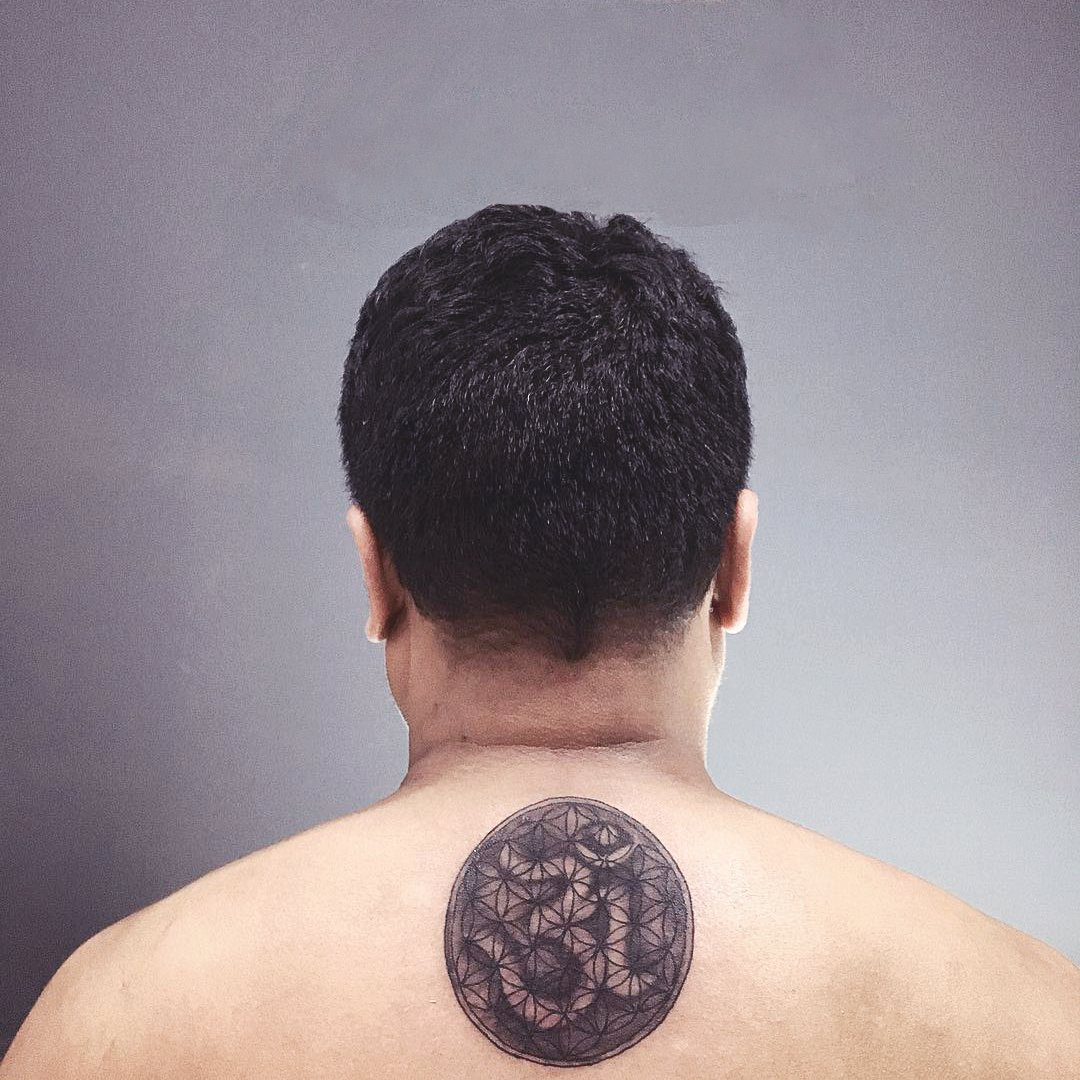 Om Back Tattoo