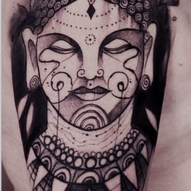 Buddha Shoulder Tattoo