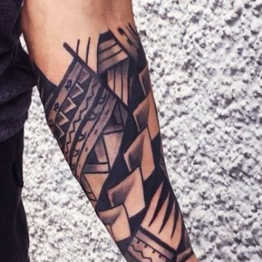 Tribal Forearm Half Sleeve Tattoo