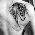Butterfly Horse Back Tattoo