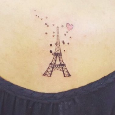 Minimalistic Eiffel Tower Tattoo
