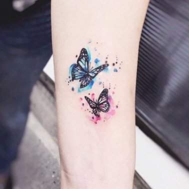 Watercolour Butterfly Tattoo