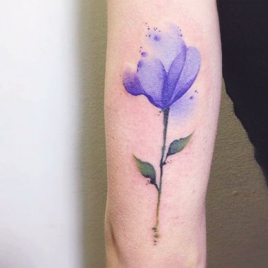 Crocus Flower Tattoo