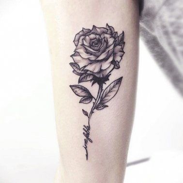 Floral Forearm Tattoo
