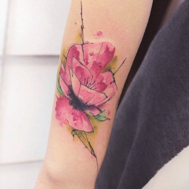 Floral Above Elbow Tattoo