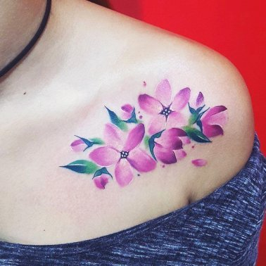 Floral Chest Tattoo