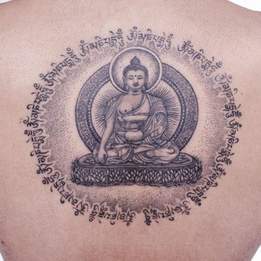 Buddha Back Tattoo