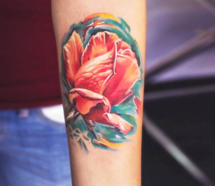 Mangolia Flower Tattoo