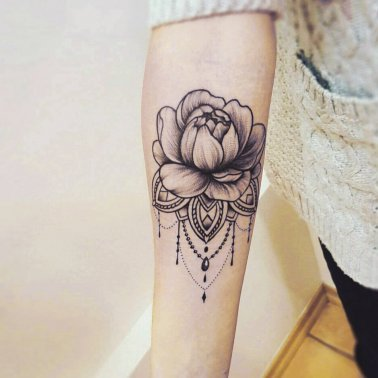 Ornamental Floral Tattoo