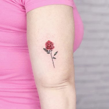 Minimalistic Rose Tattoo