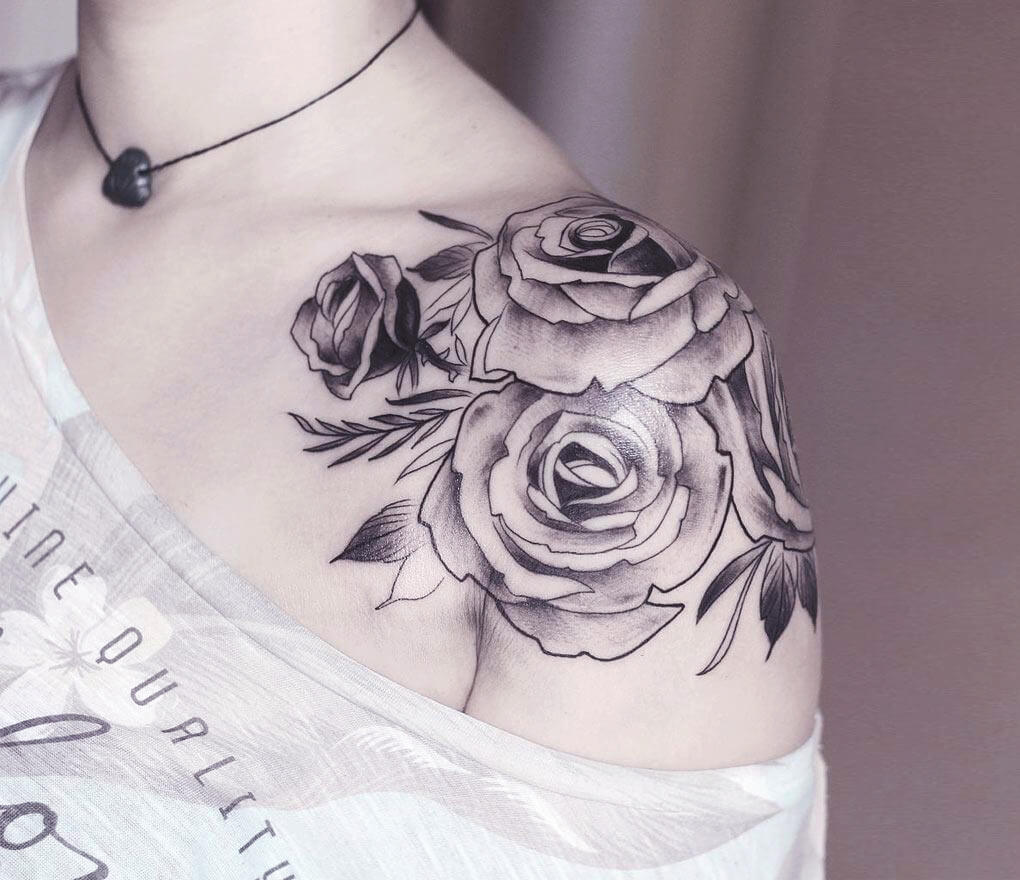 Rose Shoulder Top Tattoo
